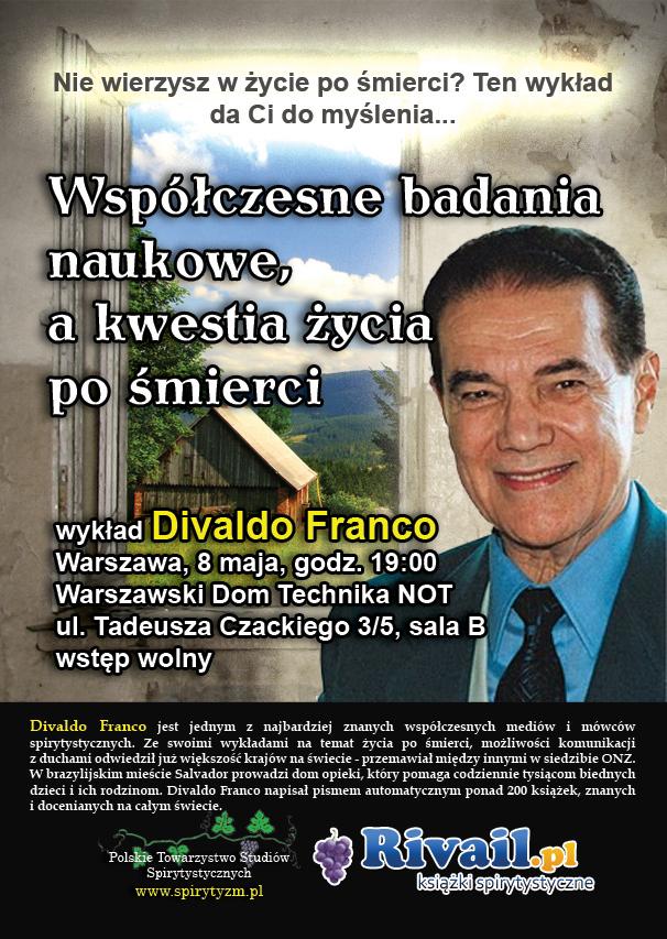 Wykład Divaldo Franco – 8 maja