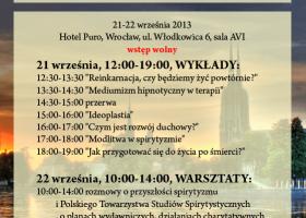 Drugi Polski Kongres Spirytystyczny – Wrocław 21-22 września 2013