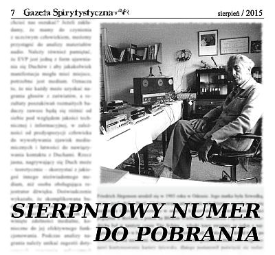 Sierpniowy numer Gazety Spirytystycznej już do pobrania