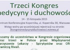 3. Kongres Medycyny i Duchowości w Warszawie